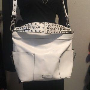 Trendy White Steve Madden Hobo bag
